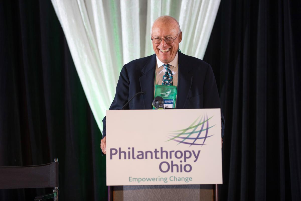 Hank Doll of the Doll Family Foundation won the 2017 Ohio Philanthropy Award.