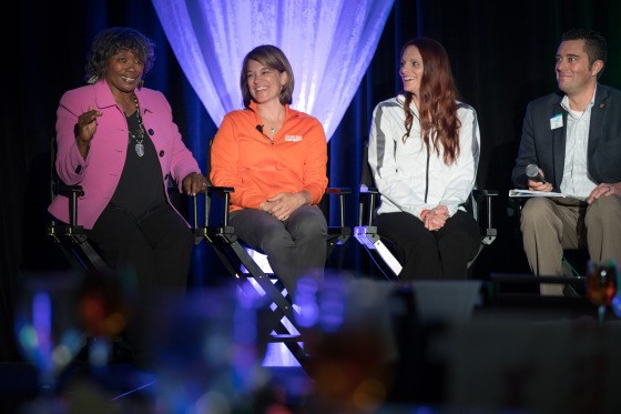 Ohio moderated a panel that included Renee Harvey of the Cleveland Browns Foundation, Rebecca Kodysh of the Cleveland Indians and Renee Powell, professional golfer and Clearview Legacy Foundation.