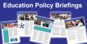 Philanthropy Ohio developed a series of targeted education briefing papers aimed at helping the state's elected officials and education leaders plot a clear direction for the future of education and student success.