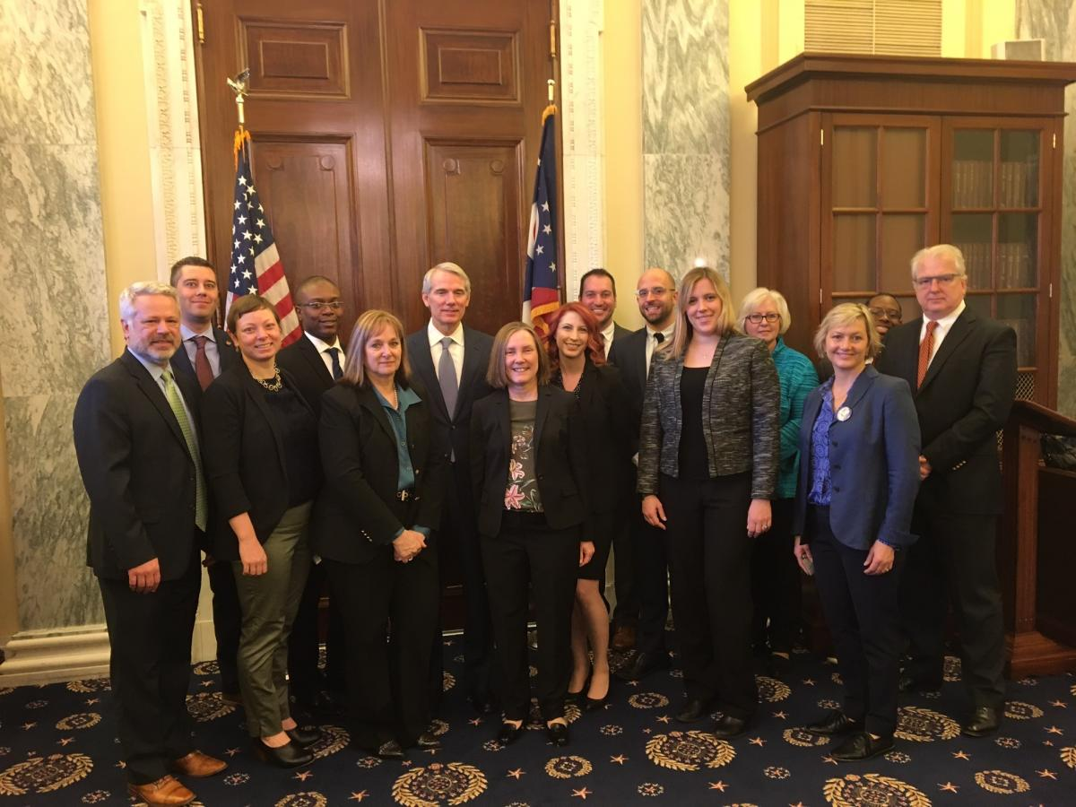 Ohio philanthropy leaders met with Sen. Portman during Foundations on the Hill 2017.